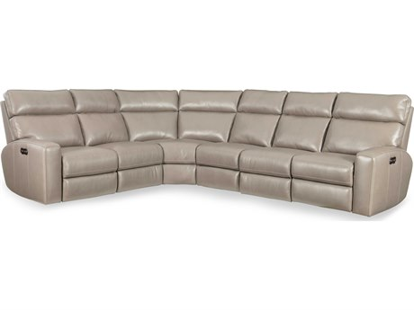 Hooker Furniture Mowry Cream Power Motion Sectional Recliner with Power Head Rest HOOSS462PS091