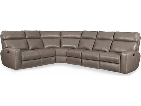 Hooker Furniture Mowry Grey Power Motion Sectional Recliner with Power Head Rest HOOSS462PS095