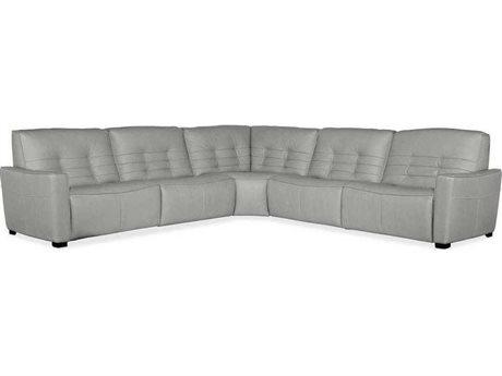 Hooker Furniture Reaux Rangers Dove Grey Five-Piece Power Recliner Sectional Sofa