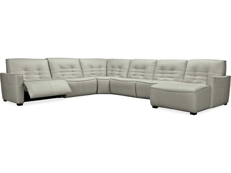 Hooker Furniture Reaux Grandier Six-Piece RAF Chaise Sectional with Two-Recliners