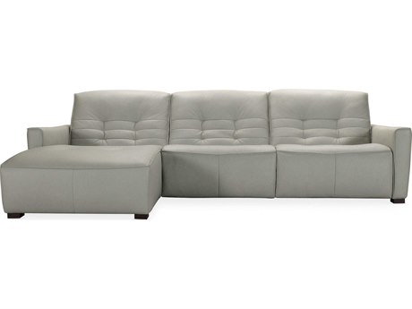 Hooker Furniture Reaux Rangers Dove Grey / Dark Wood Sectional Sofa