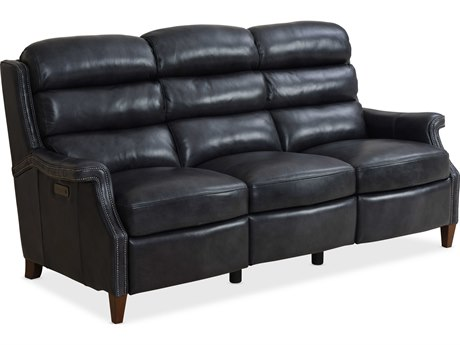 Hooker Furniture Ms Celebrity Indigo / Dark Wood Sofa Couch