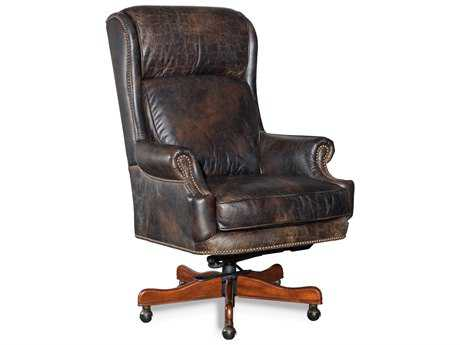 Hooker Furniture Old Saddle Fudge Medium Wood Executive Swivel Tilt Chair HOOEC378089