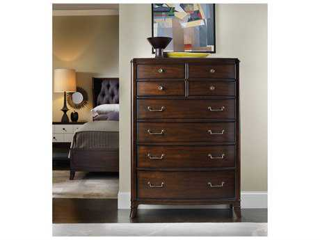 Hooker Furniture Palisade Dark Wood 41''W x 20''D Demilune Chest of Drawers