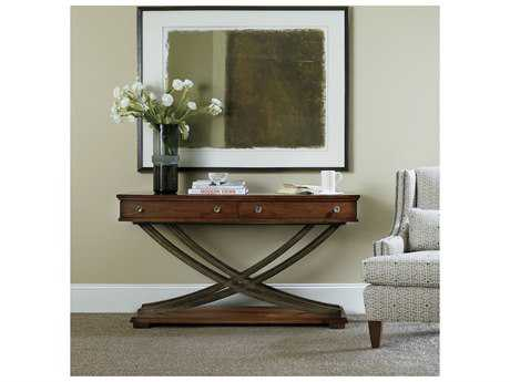 Hooker Furniture Palisade Dark Wood 54''L x 18''W Rectangular Cross-Base Console Table HOO518380161