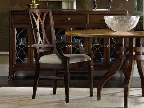 Hooker Furniture Palisade Dark Wood Arm Dining Chair HOO518375300