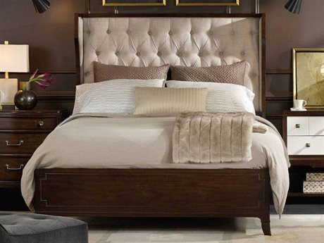 Hooker Furniture Palisade Dark Wood Queen Size Shelter Panel Bed HOO518390850