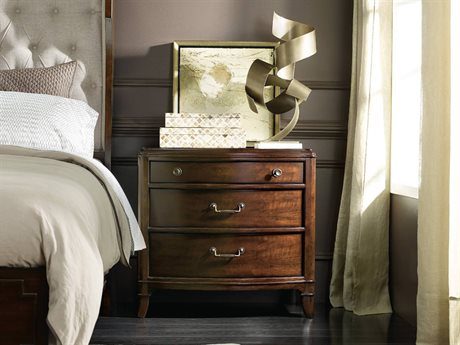 Hooker Furniture Palisade Dark Wood 33''W x 18''D Demilune Nightstand