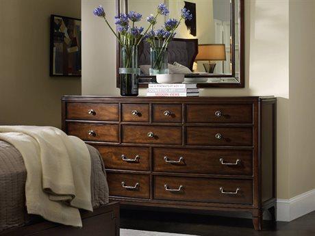 Hooker Furniture Palisade Dark Wood Triple Dresser