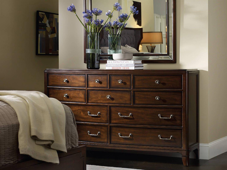Hooker Furniture Palisade Upholstered Panel Bed Bedroom