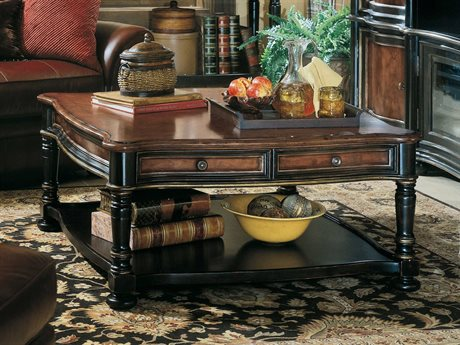 Hooker Furniture Preston Ridge Black 42'' Wide Square Cocktail Table
