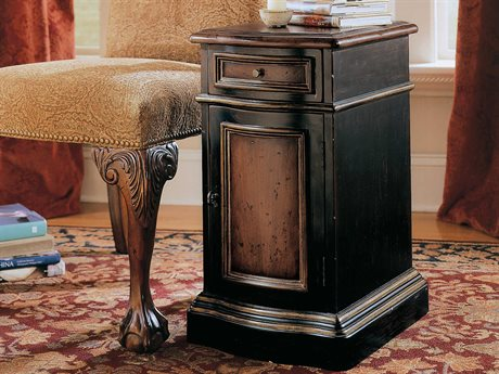 Hooker Furniture Preston Ridge Black 13''L x 17''W Rectangular Hall Chest End Table HOO86450109