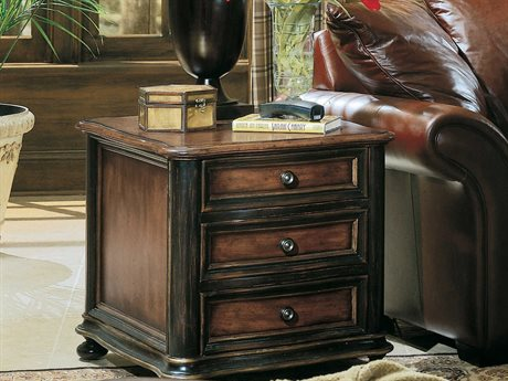 Hooker Furniture Preston Ridge Black 24''L x 28''W Rectangular Chairside End Table HOO86480149