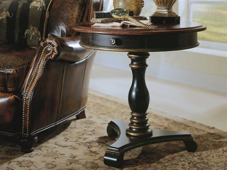 Hooker Furniture Preston Ridge Black 30'' Wide Round Pedestal Table HOO86450103