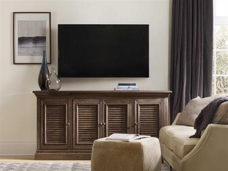Hooker Furniture Regatta Dark Natural 72''L x 18''W Rectangular Entertainment Console HOO548455472DKW