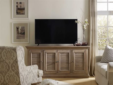 Hooker Furniture Regatta Light Natural 72''L x 18''W Rectangular Entertainment Console HOO548455472LTWD