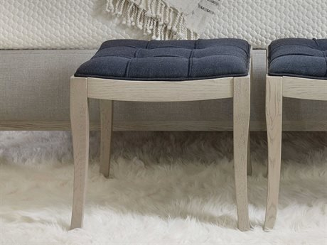 Hooker Furniture Reverie Admiral Blue Twill / Gray Accent Bench HOO57959001949