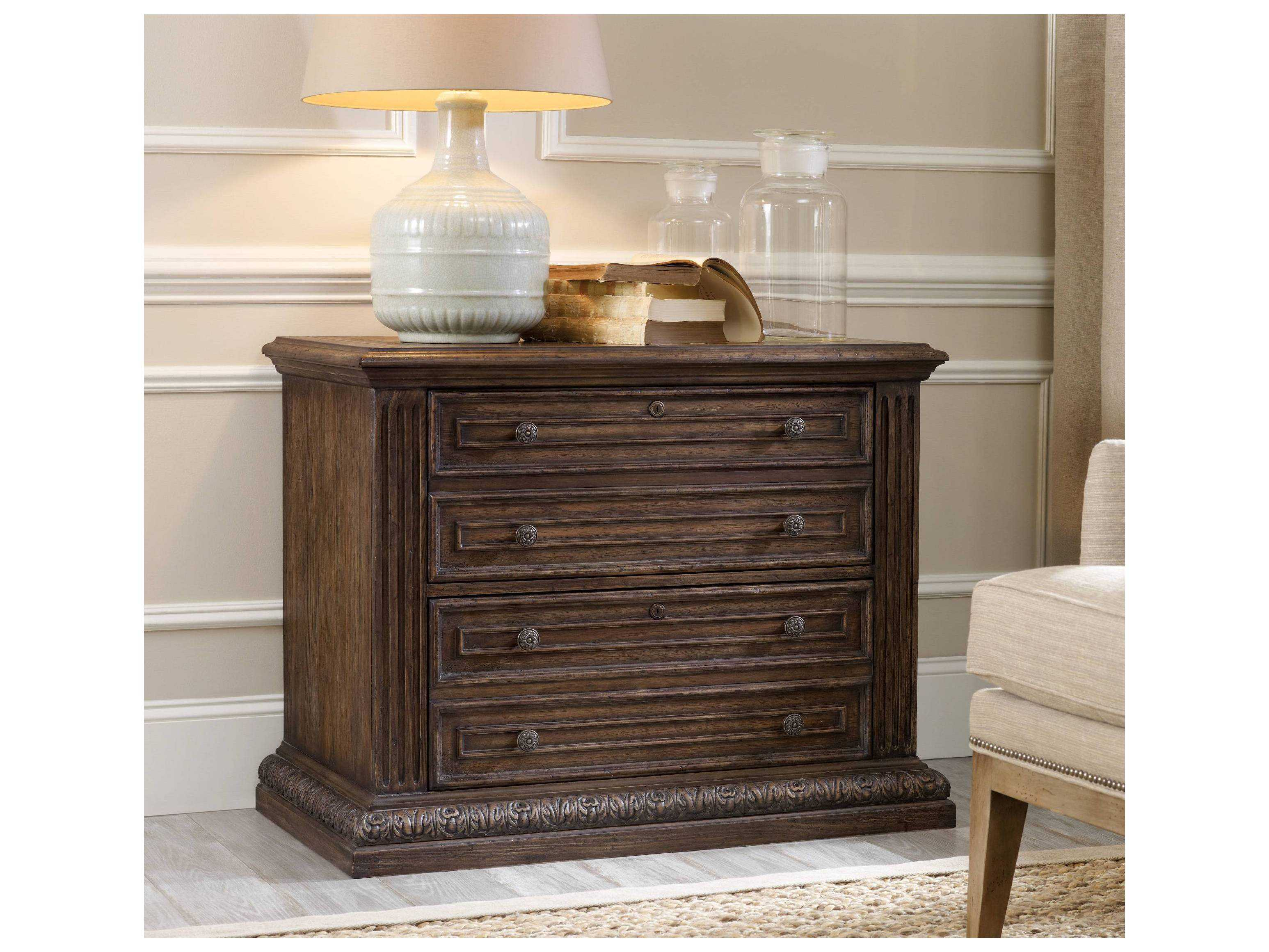 Rustic Walnut Lateral File Cabinet