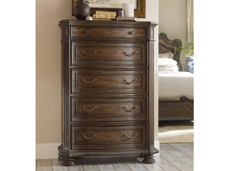 Hooker Furniture Rhapsody Rustic Walnut 43''W x 20''D Rectangular Chest of Drawers HOO507090010