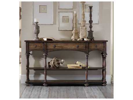 Hooker Furniture Rhapsody Walnut Rustic 64''L x 13''W Rectangular Console Table HOO507285001