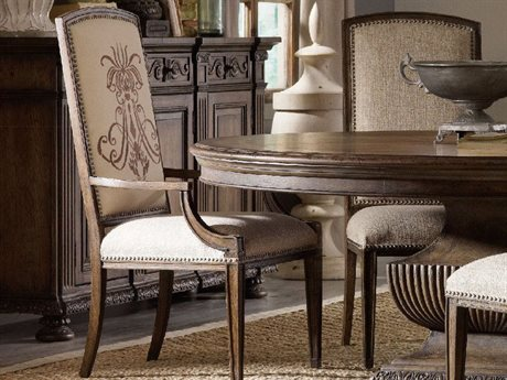 Hooker Furniture Rhapsody Insignia Rustic Walnut Dining Arm Chair