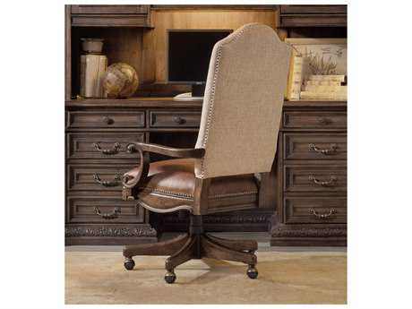 Hooker Furniture Rhapsody Rustic Walnut Computer Tilt Executive Swivel Chair HOO507030220