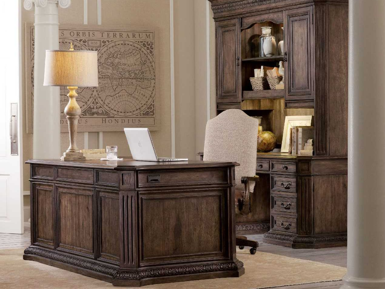 Executive Office Furniture: Hooker Furniture Rhapsody Rustic Walnut 74''L X 40''W