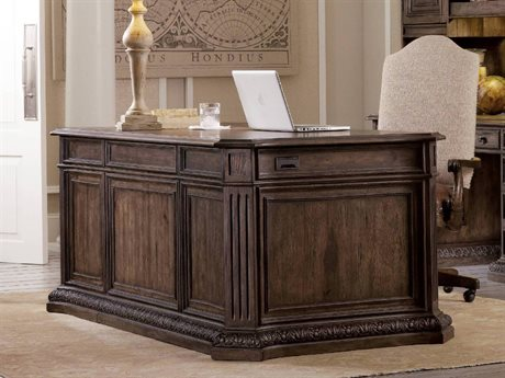 Hooker Furniture Rhapsody Rustic Walnut 74''L x 40''W Rectangular Executive Desk HOO507010563