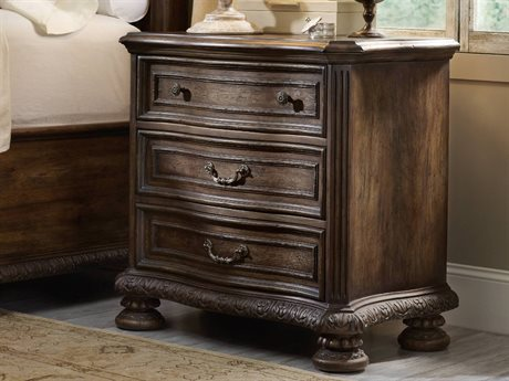 Hooker Furniture Rhapsody Walnut Colored Rustic Finish 3 Drawers Nightstand