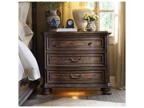 Hooker Furniture Rhapsody Rustic Walnut 42''W x 20''D Rectangular Bachelor Chest Nightstand HOO507090017