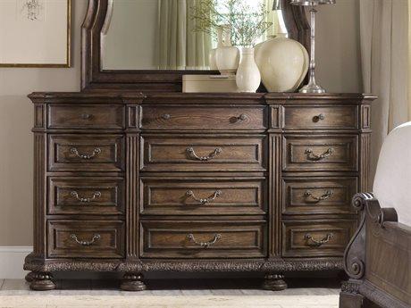 Hooker Furniture Rhapsody Rustic Walnut Triple Dresser