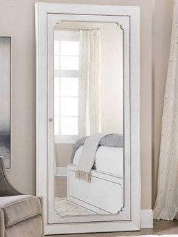 Hooker Furniture Modern Romance Textured Lacquered White / Champagne Floor Mirror