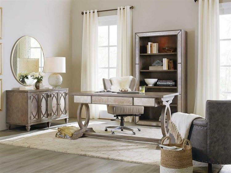 Hooker Furniture Rustic Glam Home Office Set 1641-10459-LTWD-SET & Hooker Furniture Rustic Glam Home Office Set | HOO164110459LTWDSET