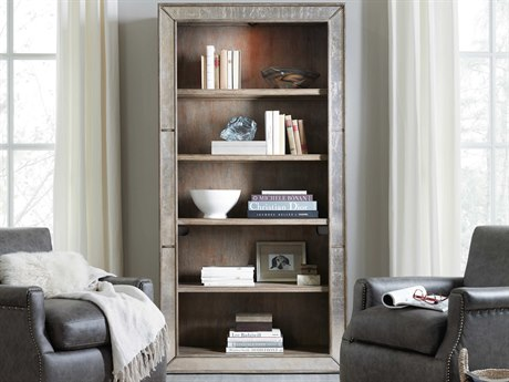 Hooker Furniture Rustic Glam Light Wood Bookcase