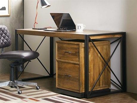 Hooker Furniture Rustique Medium Wood 60''L x 26''W Rectangular Writing Desk HOO562110460MWD