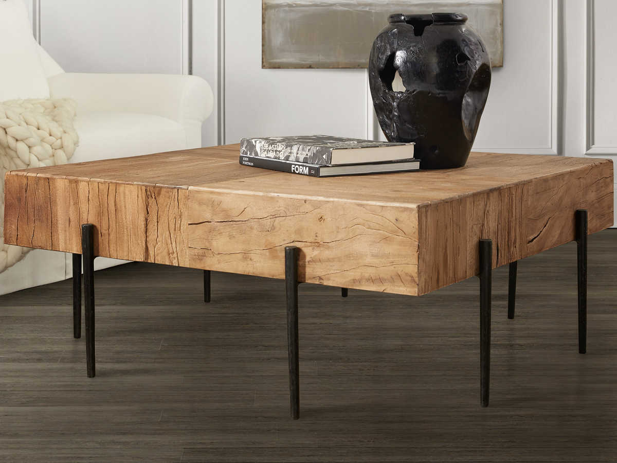 - Hooker Furniture Salvaged Light Wood 42'' Wide Square Coffee Table  HOO567780112LTWD