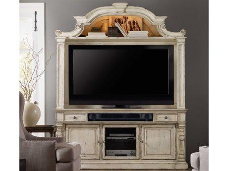 Hooker Furniture Sanctuary Vintage Chalky White 76''L x 21''W Entertainment Center HOO540355202