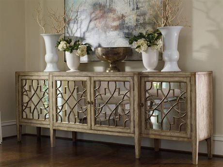 Dark Wood Mirrored Credenza : Elegant buffet table find top brand luxury furniture at luxedecor