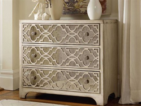 Hooker Furniture Sanctuary Pearl Essence 36''W x 18''D Fretwork Accent Chest HOO302385001