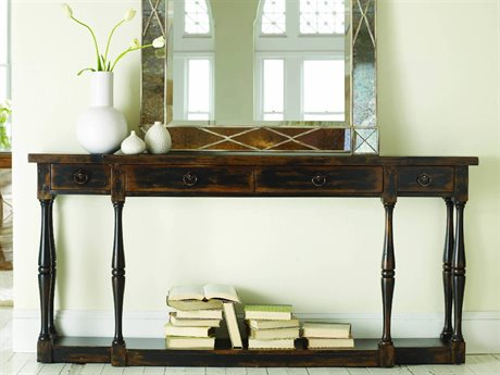 Hooker Furniture Sanctuary Ebony - A Hand-rubbed Black To Provide Drama And Contrast 72''L x 12'' Wide Rectangular Console Table