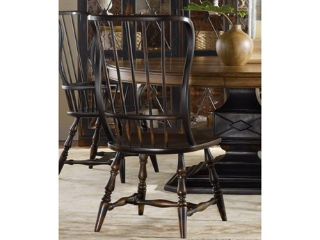 Hooker Furniture Sanctuary Ebony - A Hand-rubbed Black To Provide Drama And Contrast Side Dining Chair