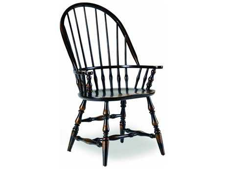 Hooker Furniture Sanctuary Windsor Ebony Dining Arm Chair HOO300575320
