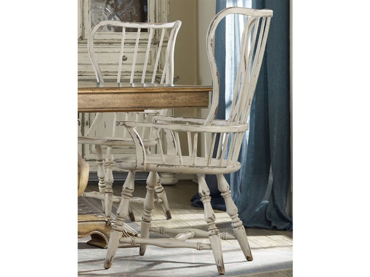 Excellent Hooker Furniture Sanctuary Vintage Chalky White Spindle Back Dining Arm Chair Alphanode Cool Chair Designs And Ideas Alphanodeonline