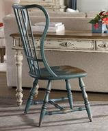 Sanctuary Sky High Azure Blue Spindle Dining Side Chair