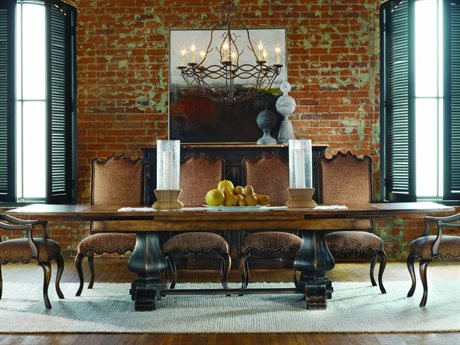 Hooker Furniture Sanctuary Ebony & Drift 132''L x 46''W Rectangular Dining Table HOO300575207