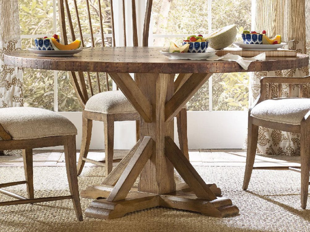 Hooker Furniture Sanctuary Antique Hickory 60\'\' Wide Round Dining Table