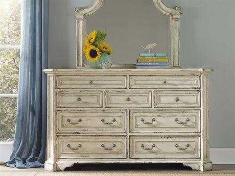 Hooker Furniture Sanctuary Vintage Chalky White Nine-Drawers Double Dresser