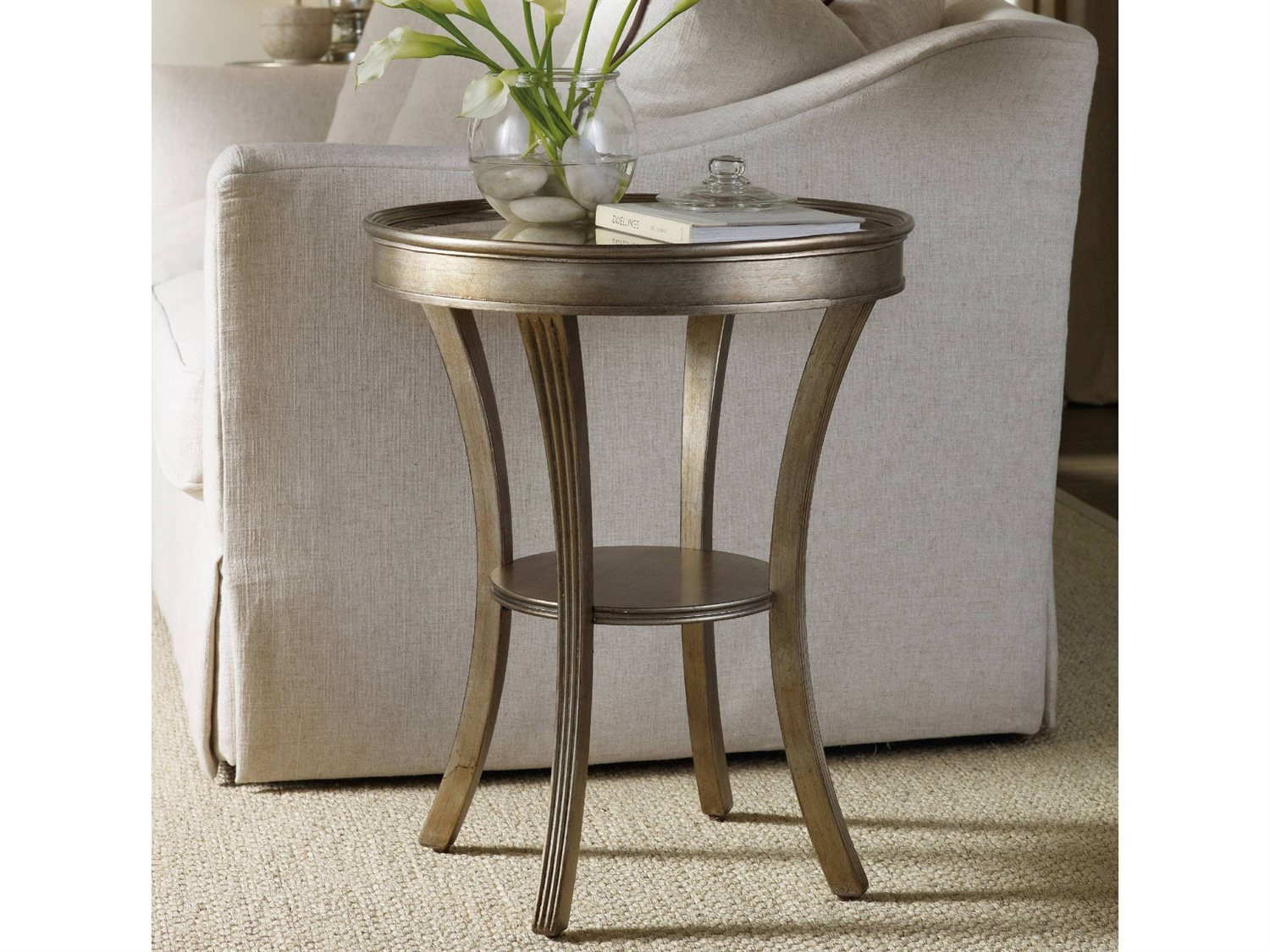 - Hooker Furniture Sanctuary 22'' Wide Round Accent End Table