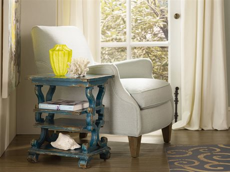 Hooker Furniture Sanctuary Cobalt Blue 18''L x 15''W Rectangular Accent End Table HOO540950001
