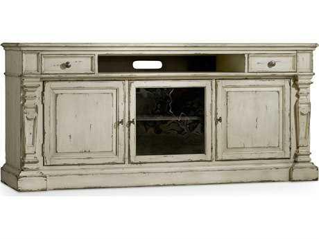 Hooker Furniture Sanctuary Vintage Chalky White 76''L x 21''W Rectangular Entertainment Console HOO540355475